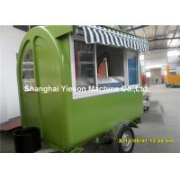 Hot Dog Food Truck Mobile Cooking Trailers Dark Green With Gas Equipments
