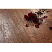 Buy cheap Ash engineered and solid wood flooring,embossed surface and stained color from wholesalers
