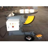Wholesale Tilting Rotary Welding Positioner Table With Hand Remote And Foot Pedal Control from china suppliers