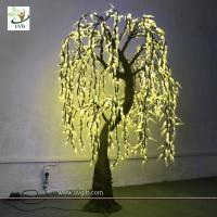 Wholesale UVG Outdoor Led Tree Lights Yellow Willow trees branch for gifts from china suppliers
