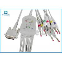 Wholesale Ph one piece type M3703C ECG Monitor Cable 10 lead with banana 4.0 from china suppliers