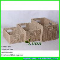 Quality LDKZ-051 natural paper rope woven storage bin 2016 new home storage basket for sale