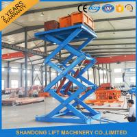 Wholesale Anti Skid Checkered Plate Stainless Steel Scissor Lift , Fixed Cargo Stationary Hydraulic Lift Platform from china suppliers