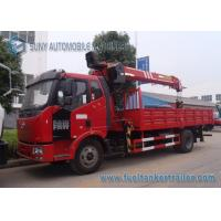 Wholesale XCMG 8 T Straight Arm Crane FAW J6 4x2 Crane Mounted Truck 160 hp from china suppliers