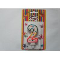 Wholesale Paraffin Wax Number 2 Shaped Digit Candle / Colorful Party Birthday Cake Candles from china suppliers