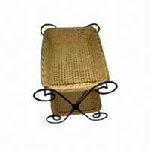 China Poly Rattan Display Basket, Child-/Mildew-resistant, Hygienic, Dishwasher Safe, FDA/LFGB Certified on sale