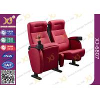 Quality Foldable Armrest Fabric Heavy Duty Cinema Theater Chairs Push Back Seatback for sale