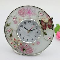 Wholesale Shinny Gifts Home Decorative Round Shape Desk Clock from china suppliers