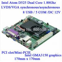 Wholesale Mini Itx industrial motherboard Intel ATOM D525 DC12V 5*COM Single 18bit LVDS Industrial Motherboards M5S-D5 from china suppliers