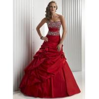 Wholesale Taffeta Beaded Long Celebrities Evening Dresses Strapless And Red from china suppliers