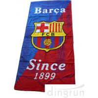 Wholesale Football Club Custom Printed Beach Towels , Logo Microfiber Beach Towel Sand Proof from china suppliers