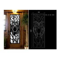 Wholesale fireproof  15.5*39.37 Iron Door With Glass , Square Steel Doors With Wrought Iron And Glass from china suppliers