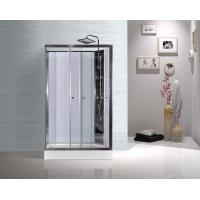 Wholesale White ABS Tray Chrome Profiles Rectangular Shower Cabins 1200 X 800 X 2250 mm from china suppliers