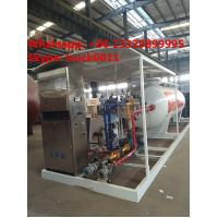 Wholesale China bottom price mobile skid lpg gas station with lpg gas dispenser for sale, HOT SALE! 5tons skid lpg filling plant from china suppliers