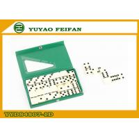 Wholesale Regular Custom Double Six Dominoes Game Set Green PVC Box 6mm from china suppliers