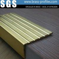 Wholesale Safety Curved brass Tile Edging Copper Anti-slip Stair Nosings from china suppliers