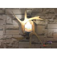Wholesale Maso Hotsale Retro vintage Style Antler Wall Sconce Lamp Residential Wall Decorative Villa Hotel Lobby Art Lamp MS-W2006 from china suppliers