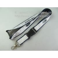 Wholesale Luxury sublimation satin applique polyester lanyards, high-end satin label overlay lanyard from china suppliers