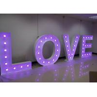 Wholesale Purple LOVE Big Wedding Letter Lights With RGB Colors For Warm Happy Wedding from china suppliers