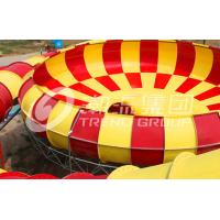Wholesale Customized Exciting Garden Water Slide , Giant Space Backyard Water Slides Red / Yellow for Park from china suppliers