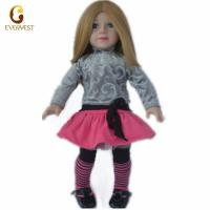 China Custom wholesale kids toys brown vinyl american dolls on sale