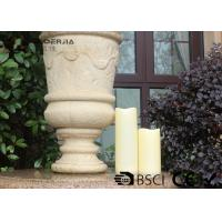 Outdoor Led Pillar Candles With Remote , Pillar Led Candles Battery Operated