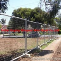 Quality Australia galvanized temp fence stays galvanised temporary fence with brace for sale
