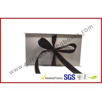 Wholesale Simple White And Black Apparel Gift Boxes With Ribbon / Duplex Board Gift Box from china suppliers