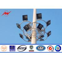 Buy cheap 40M 60 nos LED Lights Galvanized High Mast Stadium Light Tower With Round Lantern Carriage from wholesalers