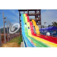 Wholesale Green And Yellow High Speed Fiberglass Water Slides Optional Color For Adults from china suppliers