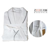 Wholesale Luxury Hotel Robes Waffle Weave With Stripe Excellent Water Absorption from china suppliers
