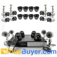 Wholesale 24 Channel Surveillance DVR Set (1TB, H264, 420TVL, 12 Indoor + 12 Outdoor Cameras) from china suppliers