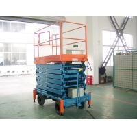Quality Extension platform AC / DC electric elevating hydraulic mobile scissor lift  for work shop, theatre for sale