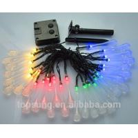 Wholesale solar outdoor lights 5m 20leds water drop led christmas lights from china suppliers