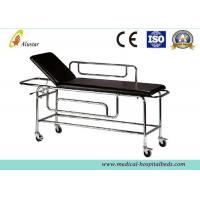 Wholesale Patient Emergency Stainless Steel Stretcher Trolley For Ambulance With Backrest Raising (ALS-ST002b) from china suppliers
