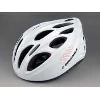 Wholesale Solid White Bmx Adult Bicycle Helmet Mens Abs Shell 18 Aerodynamic Vent Holes from china suppliers