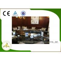 Wholesale Upper or Down Fume Exhaustion Gas Teppanyaki Grill Table 12 Seats Pipeline Natural Gas Heating from china suppliers