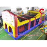 Wholesale Kids Giant Inflatable Obstacle Course laminated For Amusement Park from china suppliers