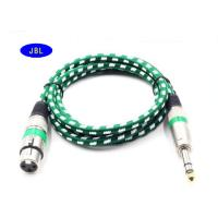 Wholesale 6.5MM Aux Male To Female XLR / Male To Male XLR Cable Round Shape With Silver Connector from china suppliers