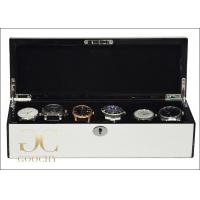 Quality Arc Lidded Wooden Watch Display Box for Six Watches Collection Enthusiasts for sale