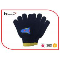 Wholesale Dark Blue Kids Winter Gloves Rocket Offset Pattern Winter Proof Gloves from china suppliers