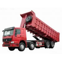 Wholesale 371hp Howo 8x4 tipper truck / dumper truck HW76 cab with one berth 7m length from china suppliers
