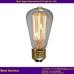 Buy cheap Retro Carbon Filament Edison Light Bulb E14 E26 E27 B22 from wholesalers