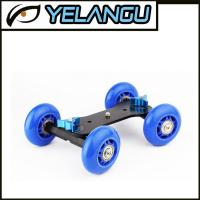 Wholesale Blue Tabletop Mobile Rolling Camera Rail Slider Mini Dolly Car Skater Video Track from china suppliers