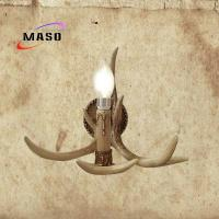 Wholesale 2017 Popular Retro style Antler look MS-W2002 Coffee Color E14 Adison LED Candle Bulb Replacable Wall Sconce Lamp from china suppliers