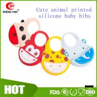 Wholesale Soft Wipe Clean Waterproof Silicone Baby Bibs - BPA Free - FDA Approved from china suppliers