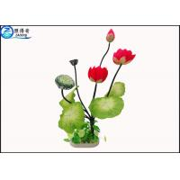 Wholesale Lotus Flower Simulation Plastic Aquatic Plants Aquarium Grass Fish Tank Aquatic Decor from china suppliers