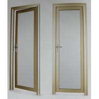 Quality Evironment friendly durable aluminum hinged doors with electrophoresis surface treament for sale