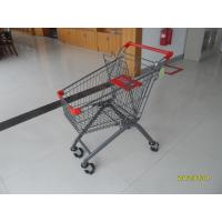 Quality Q195 Low Carbon Steel 80L Grocery Pull Cart For Boutique Supermarket for sale