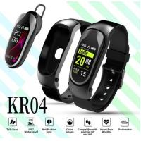 Wholesale smart watch ear buds high quality fitness activity tracker heart rate wristband 2 IN 1 Bluetooth earphone samrt bracelet from china suppliers